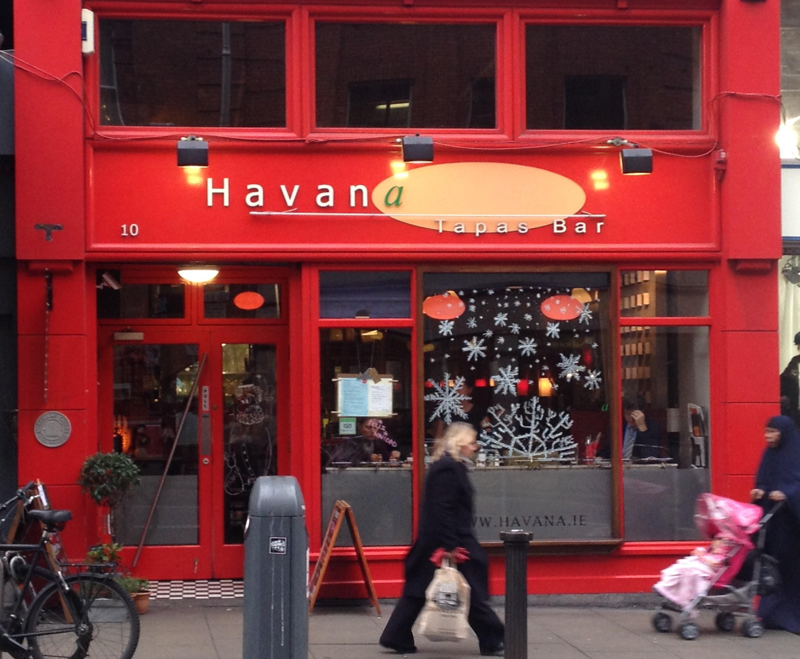 Havana Restaurant Dublin Menu